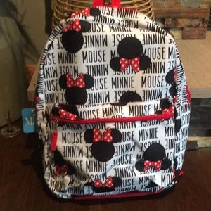 "Disney Minnie Mouse Ears Backpack 16"" Book Bag"